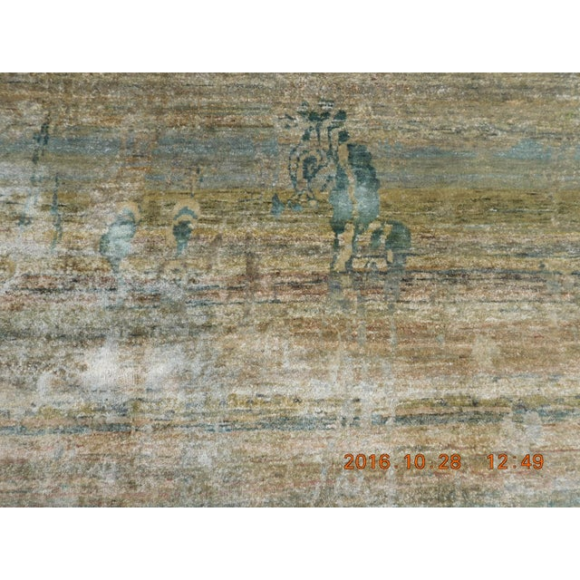 "Abstract Hand-Knotted Rug - 8′ × 9′11"" - Image 9 of 10"