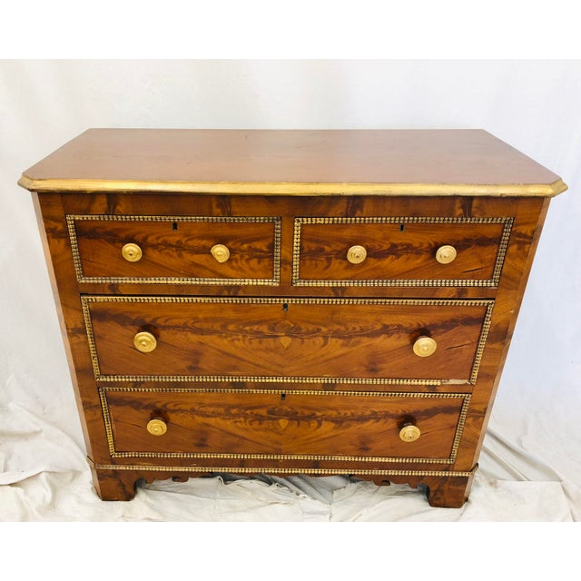 American Classical Antique Victorian Burl Chest For Sale - Image 3 of 7