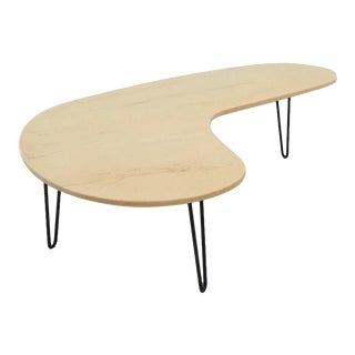 Vintage Faux Marble Boomerang Coffee Table For Sale