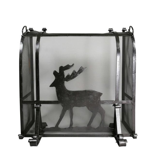 Arts and Crafts Wrought Iron Fireplace Screen For Sale - Image 4 of 9
