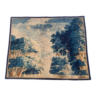 18th Century French Verdure Aubusson Tapestry Fragment With Trees and Foliage For Sale