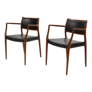 Niels O. Møller Pair of Model 65 Armchairs For Sale