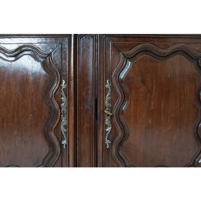 Mid 18th Century French 18th Century Dark Oak Homme Debout / Cupboard For Sale - Image 5 of 10