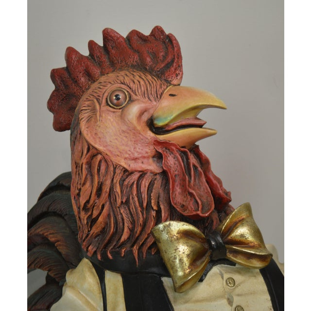 A. W. Design Large Painted Rooster Statue For Sale - Image 9 of 13