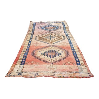 Antique Oushak Runner- 5′7″ × 11′7″ For Sale