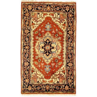 Traditional Pasargad N Y Serapi Design Hand-Knotted Rug - 3' X 5' For Sale