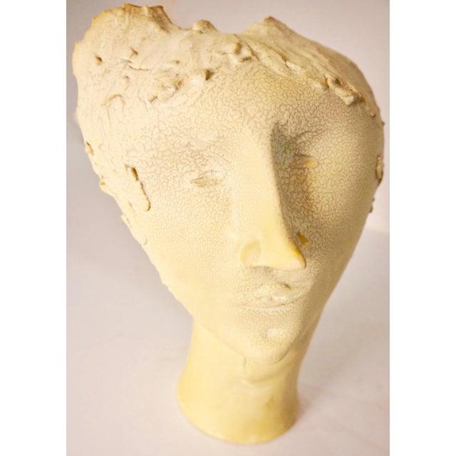 Ceramic 1950s Vintage Bust of Fantoni's Wife Sculpture For Sale - Image 7 of 12