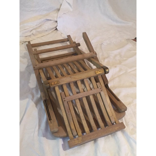 Vintage RMS Queen Elizabeth Cruise Line Deck Chair - Image 5 of 11
