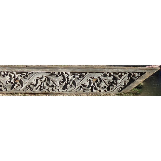 Acanthus Leaf Carved Wood Pediment - Image 2 of 11