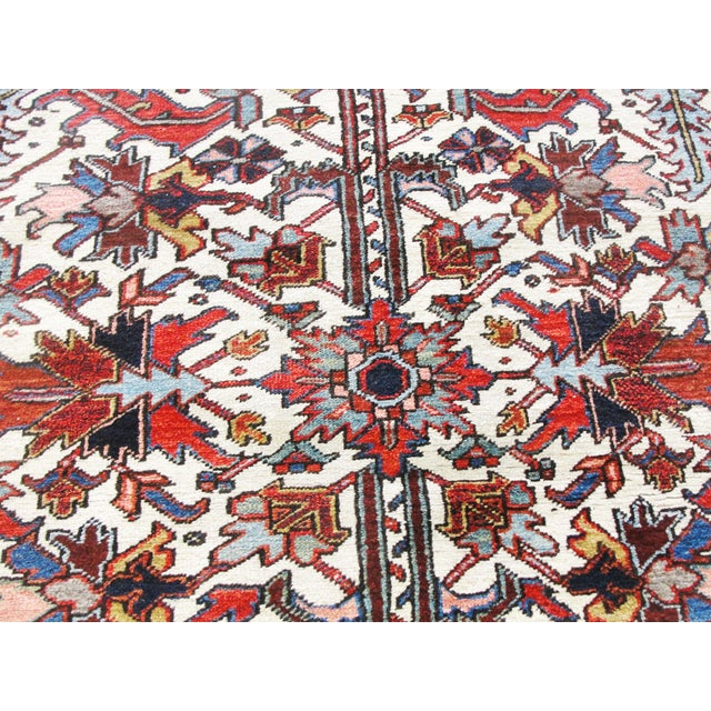 Antique Heriz Tree of Life Rug For Sale In Chicago - Image 6 of 8
