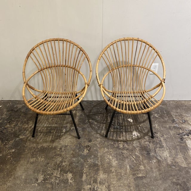 Brown Mid Century Chairs - a Pair For Sale - Image 8 of 9