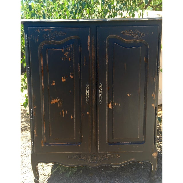 Vintage Distressed Armoire Dresser - Image 2 of 5