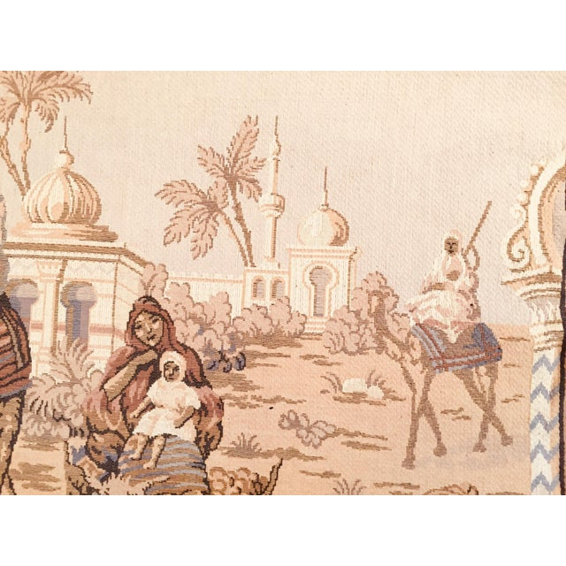 Large 19th Century Orientalist Scene and Moorish Architecture Tapestry For Sale - Image 9 of 12