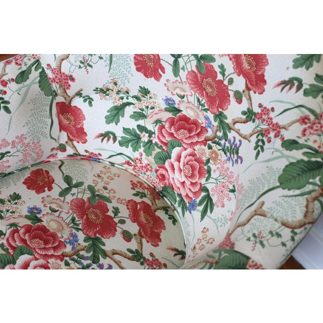 Napoleon III Style Floral Boudoir Chair With Bullion Fringe For Sale - Image 10 of 12