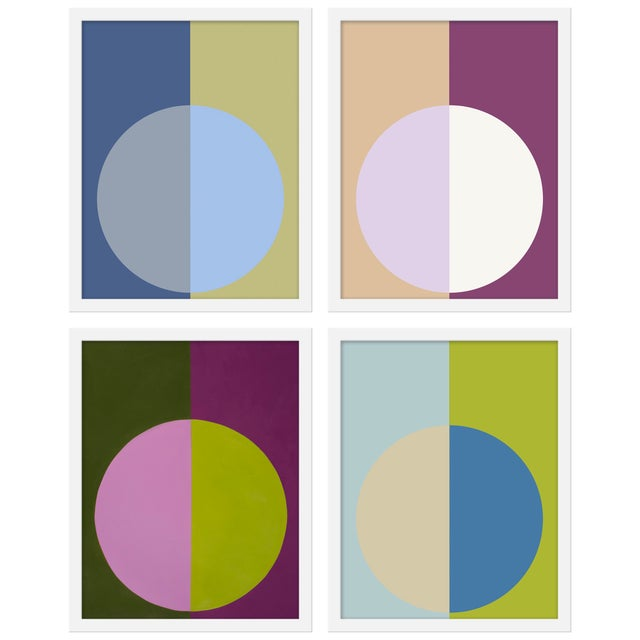 "Contemporary Medium ""Cool Forevers"" Print by Stephanie Henderson, 32"" X 40"" - Set of 4 For Sale - Image 3 of 3"