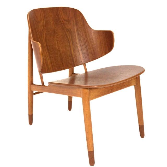 Kofod Larsen Teak Shell Lounge Chair - Image 1 of 7