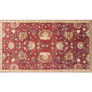 """1960s Turkish Oushak Rug - 4'10"""" X 8'3"""" For Sale"""