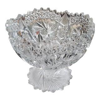 American Brilliant Crystal Compote Dish