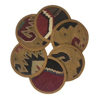 Rug & Relic Kilim Coasters Set of 6 | Dilara