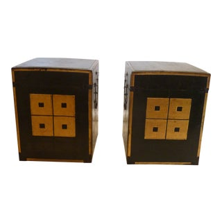 19th Century Japanese Laquered Armor Boxes - a Pair For Sale