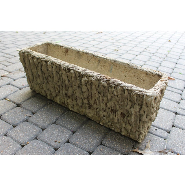 French Country French Faux Bois Rectangular Planter For Sale - Image 3 of 6