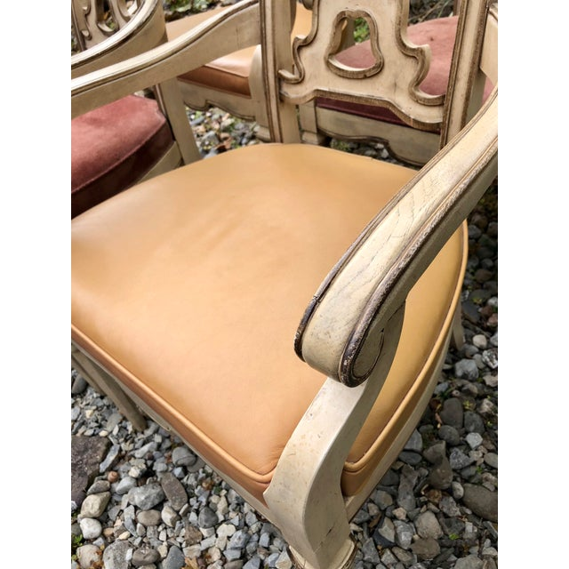 Vintage Italian Dining Chairs Set 4 For Sale In New York - Image 6 of 12