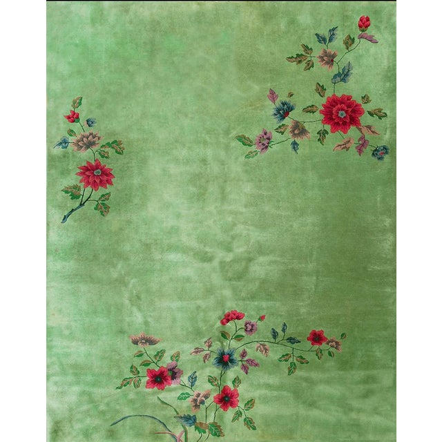 Textile Chinese Art Deco Rug-8′8″ × 11′4″ For Sale - Image 7 of 7