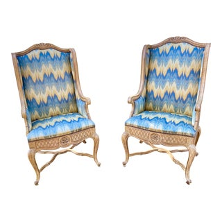 French Country Inspired Wingback Chairs For Sale