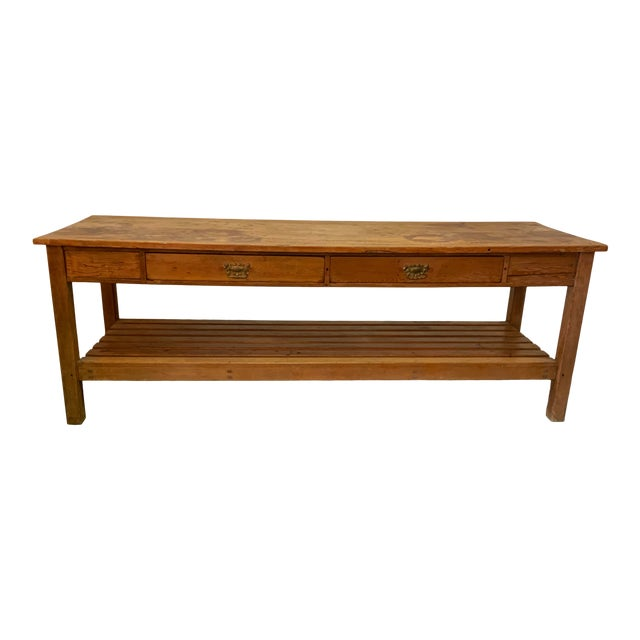 19th Century Rustic Pine Table / Sideboard For Sale