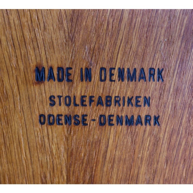 Vilhelm Wohlert for Stolefabriken Odense Danish Stools- Set of 3 For Sale - Image 12 of 13