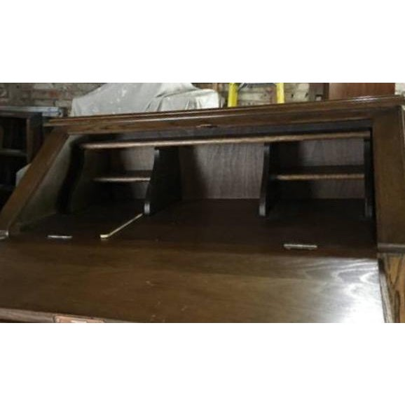 Vintage Roll Top Desk With Lock & Key - Image 6 of 7