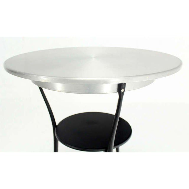 Early 20th Century Mid-Century Italian Modern Tri-Leg Cafe Table by Arper For Sale - Image 5 of 10