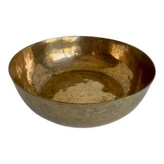 Vintage Brass Centerpiece Bowl For Sale