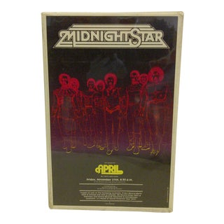 "1981 Vintage ""Midnight Star"" Concert Poster For Sale"