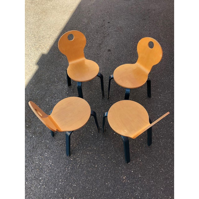 Two Tone Dining Chairs by Thonet- Set of 4 For Sale In Portland, OR - Image 6 of 13