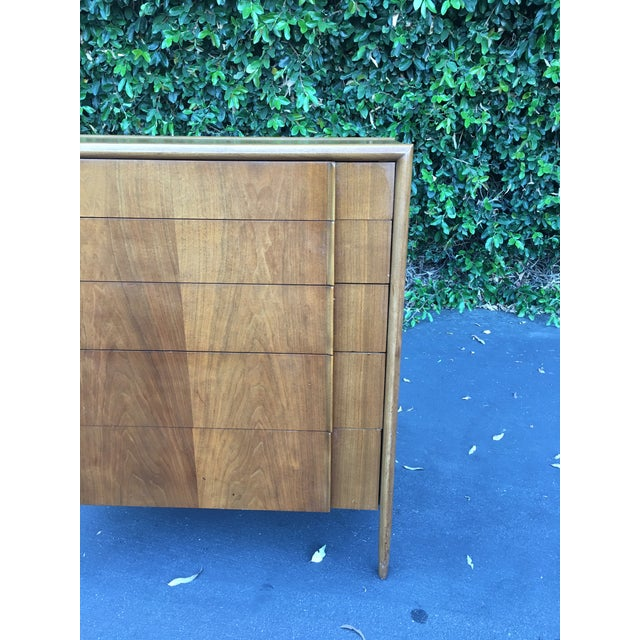 Mid Century Modern High Boy Dresser Chest of Drawers Parallel Collection by Barney Flagg for Drexel For Sale In Los Angeles - Image 6 of 12