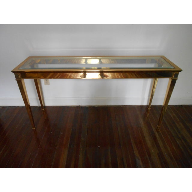 Louis XVI Brass Console Table - Image 2 of 8