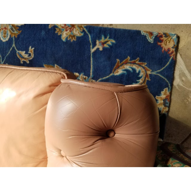 Vintage Mid Century English Chesterfield Leather Sofa For Sale - Image 12 of 13