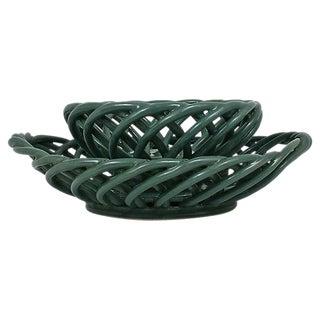 Italian Lattice Bread Baskets - A Pair