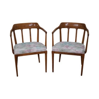 Tomlinson Mid-Century Modern Walnut Armchairs - A Pair For Sale