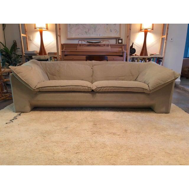 A distinctive pair of late 20th century Danish sofas by Niels Eilersen. Based in Denmark, Eilersen is a multi-generational...