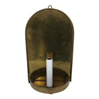 Brass Electrified Candle Wall Sconce