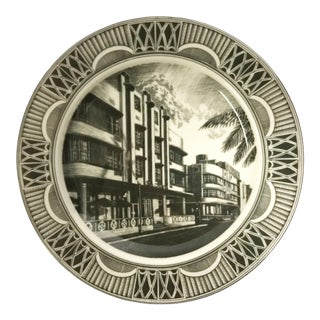 Slice of Life South Beach Art Deco Plate For Sale