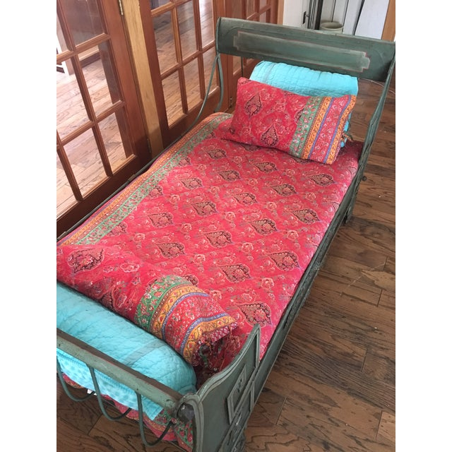 Antique French Iron Daybed For Sale - Image 9 of 12