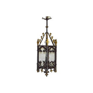 Antique Gothic-Style Iron Hanging Lantern Preview