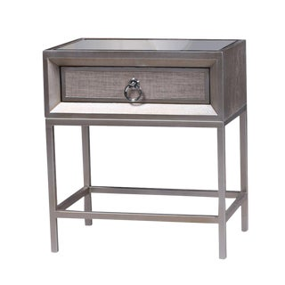 Cassidy Mirrored Top 1 Drawer Nightstand For Sale