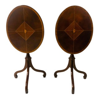 Pair of Baker Furniture Tilt Top Tables