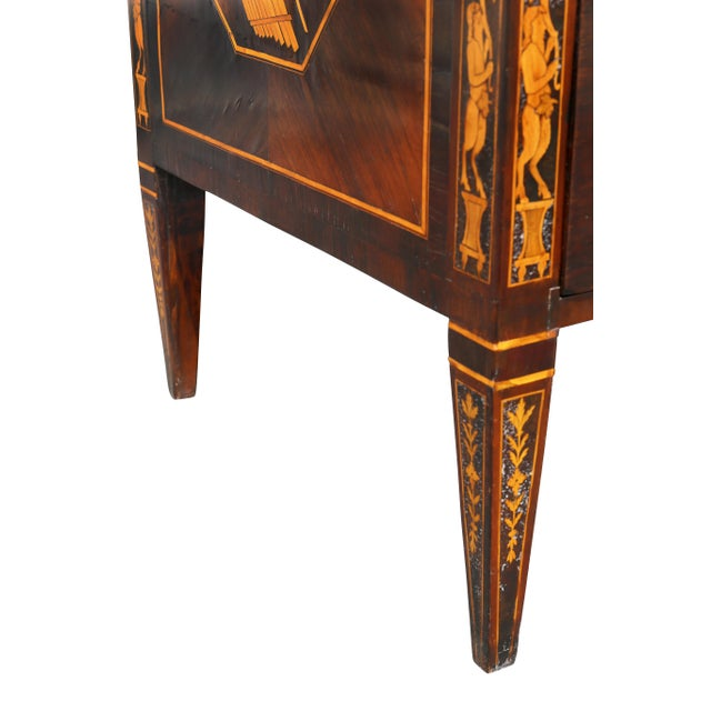 Italian Neoclassic Marquetry Inlaid Commode For Sale - Image 10 of 13