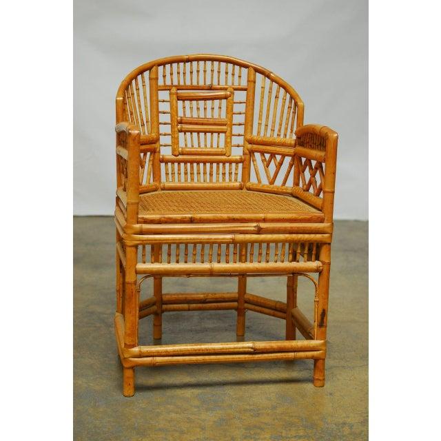 Bamboo Brighton Pavillion Style Armchair - Image 2 of 9