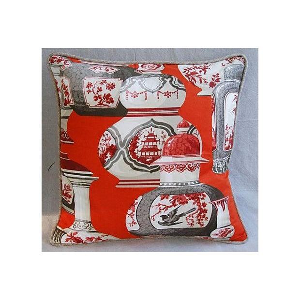 Custom Braemore Chinoiserie Vase Pillows - Pair - Image 7 of 8